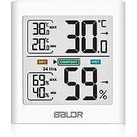 HOPLAZA Termómetro Higrometro Digital para Interior Medidor de Temperatura y Humedad Registros Mínimos/Máximos Pantalla…