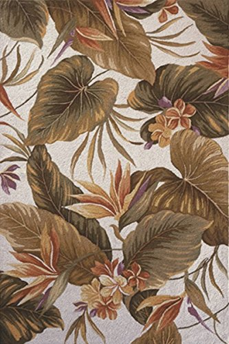 Wool Tropical Floral Area Rug - KAS Oriental Rugs Colonial Collection Tropical Paradise Area Rug, 5'3