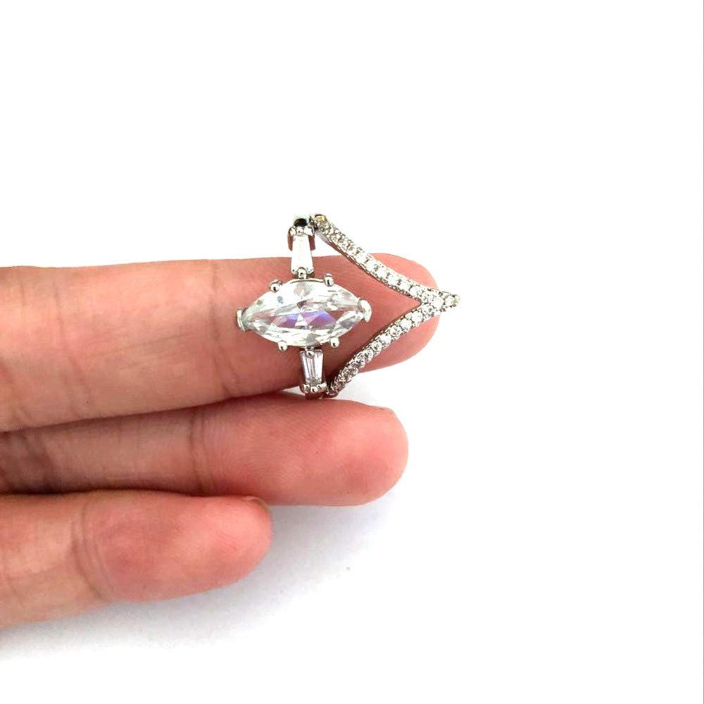 Women Simulated Diamond Bohemian Crystal Joint Knuckle Nail Ring Set Finger Rings Punk Ring by NIKAIRALEY Jewelry (Image #5)