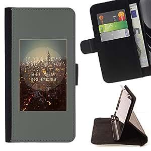 ForSamsung Galaxy S3 MINI i8190 (NOT S3) Case , Cita Vida en la ciudad motivación- la tarjeta de Crédito Slots PU Funda de cuero Monedero caso cubierta de piel