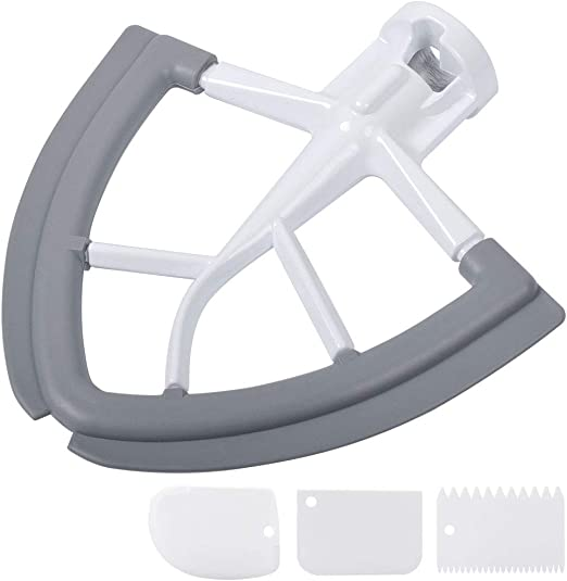 Beater Paddle Mixing Blade for KitchenAid 4.5-5 Quart Tilt-Head Stand Mixer Gray