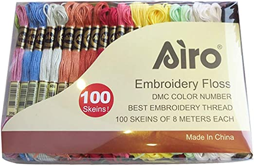 Angmile 50 colores 100 hilos de bordado de madejas hilos de coser ...