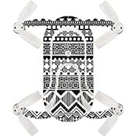 Skin For ZEROTECH Dobby Pocket Drone – Black Aztec | MightySkins Protective, Durable, and Unique Vinyl Decal wrap cover | Easy To Apply, Remove, and Change Styles | Made in the USA
