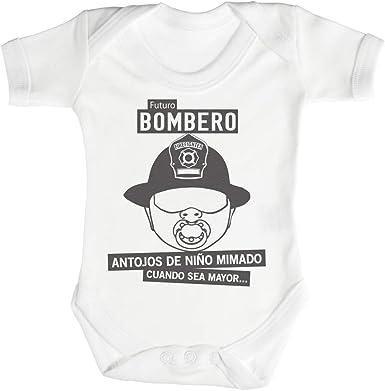 SR - Futuro Bombero Camisillas para bebé - Body para bebé niño - Body para bebé niña - 0 Meses Blanco: Amazon.es: Ropa y accesorios