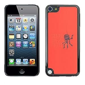 EJOY---Cubierta de la caja de protección la piel dura para el / Apple iPod Touch 5 / --Alla ricerca di qualcosa Robot