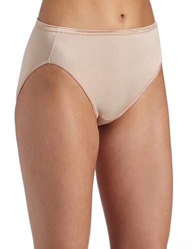 Vanity Fair Women's My Favorite Pants Illumination Hi-Cut Brief #13108, Rose Beige, Size 7
