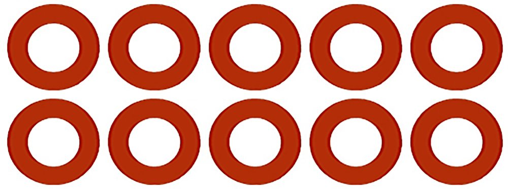 Sterling Seal CRG7237.600.125.150X10 7237 Red Rubber Ring Gasket, 6.62'' ID, 6'' Pipe Size, 1/8'' Thick, Pressure Class 150# (Pack of 10) by Sterling Seal & Supply, Inc. (STCC)