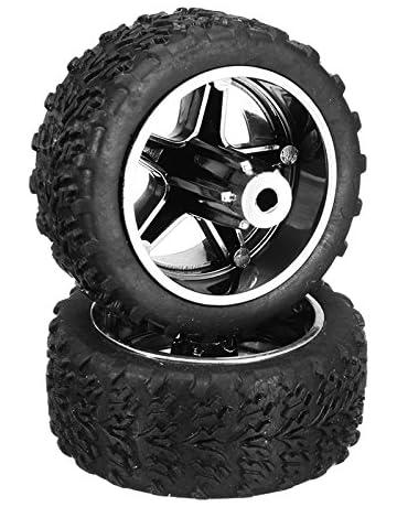 VIDOO 2Pcs 3Mm L939-15 Delantero 16 Ruedas Trasera Neumáticos para RC Coches 2019 Repuestos