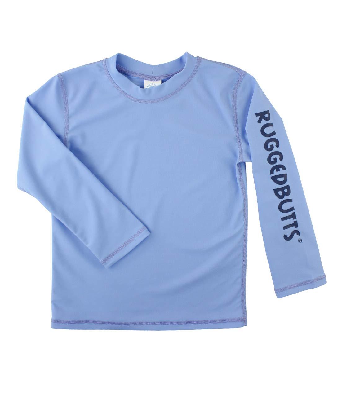 RuggedButts Baby/Toddler Boys Cornflower Blue Logo Long Sleeve Rash Guard - 12-18m by RuggedButts