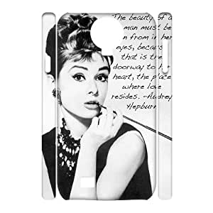 DDOUGS I Audrey Hepburn Brand New Cell Phone Case for SamSung Galaxy S4 I9500, DIY SamSung Galaxy S4 I9500 Case
