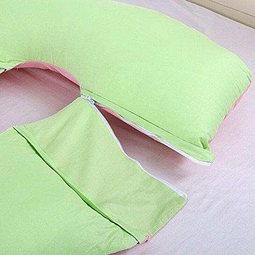 Sleeping pillow / pregnant women / multi-functional pregnant women pillows / Waist Lateral sleep pillow / U-side sleeper pillow ( Color : E ) by Pregnant women pillow (Image #5)