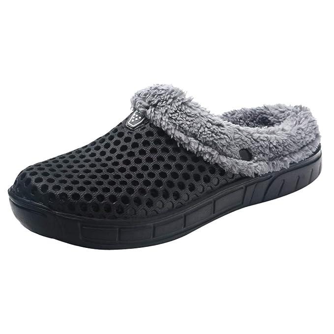 BaZhaHei-Zapatillas de Piso Suave para Mujer Zapatillas de algodón para Mujer Zapatos de Pareja