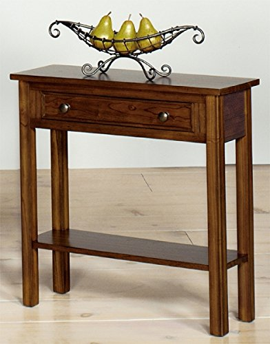 Heartwood Crossing Console Table 46 W x 10 D x 28 H Black