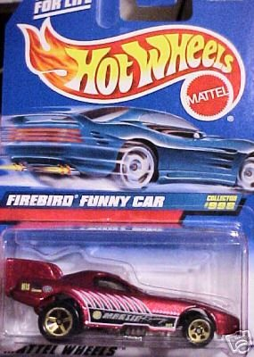 Mattel Hot Wheels 1999 1:64 Scale Maroon Firebird Funny Car Die Cast Car Collector #998