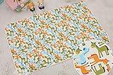 ❤️ Waterproof Pad, Newborn Baby Boy Girl 3 Layer Cotton Mat Cut Animal Mat 29.5''x47.2'' (Free Size, Color A)