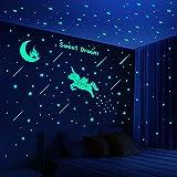 353 PCS Glow in Dark Stars and Moon Castle, Glowing