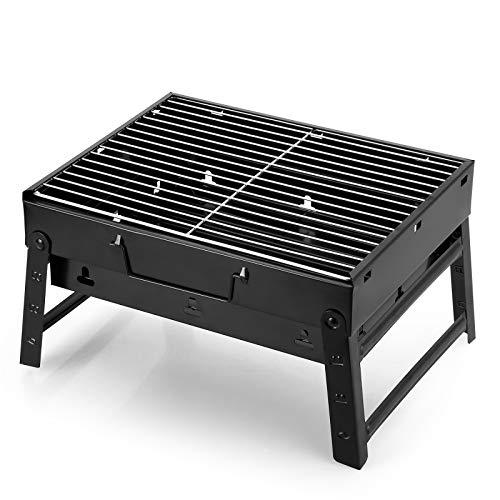 AGM Holzkohlegrill Picknickgrill Edelstahl Kleiner Grill Portable Campinggrill Abnehmbare BBQ Grills für Outdoor Garten…