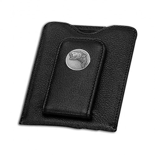 - Indiana Metal Craft Credit Card Money Clip Black with Nickel Silver Bass Emblem. SG158501B IMC-Retail