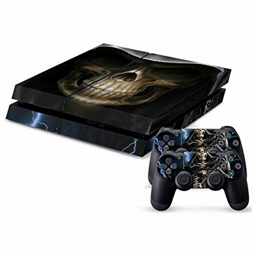 MODFREAKZTM Console and Controller Vinyl Skin Set - Hooded Reaper Skull for Playstation -