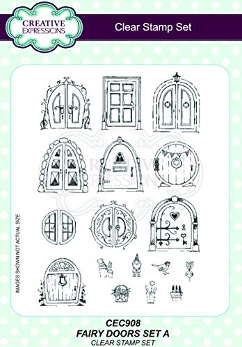 Creative Expressions Fairy Doors Set 1 A5 Clear Stamp Set, CEC908 from Sue Wilson