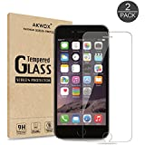 (Pack of 2) iPhone 6/6s Screen Protector, Akwox Ultra thin 0.33mm HD Clear 9H Tempered Glass Screen Protector Film For iPhone 6/6s