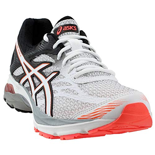 ASICS Women's Gel-Flux 4 Running Shoe, White/Snow/Flash Coral, 6 M US (Best Womens Running Shoes For Snow)