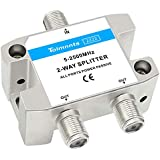 Tolmnnts 2-Way Coaxial Cable Splitter 5-2500MHz,Work with CATV, Satellite TV,Antenna System and MoCA Configurations