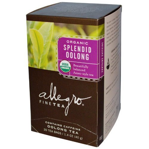 Organic Splendid Oolong Tea 20 Tea Bags 1.4 oz (40 g) (Pack of 6) by Allegro