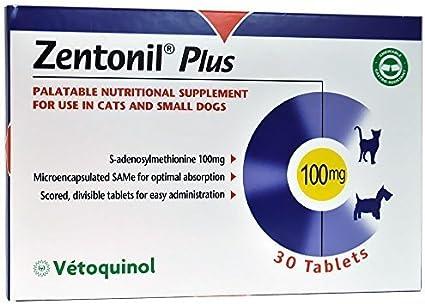 Zentonil Plus para perros pequeños gatos 100 mg (30 Pastillas) por Zentonil: Amazon.es: Productos para mascotas