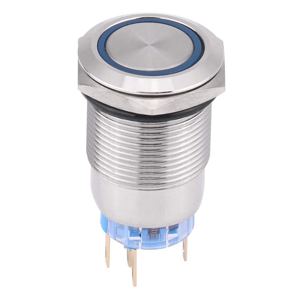 Verde Duokon 19mm 12V metal impermeable Bot/ón del interruptor LED del bot/ón de cierre