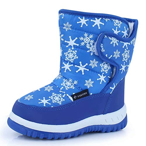 - CIOR Kid Snow Boots Winter Outdoor Waterproof with Fur Lined for Girls & Boys (Toddler/Little Kid/Big Kid) TX4,Blue,27