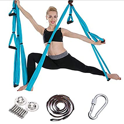 Amazon.com: Jx Aerial Yoga Hammock 6 Handle Yoga Inverted ...
