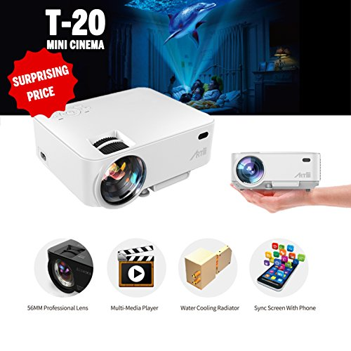 Video projector artlii portable led projector home theatre for Laptop pico projector