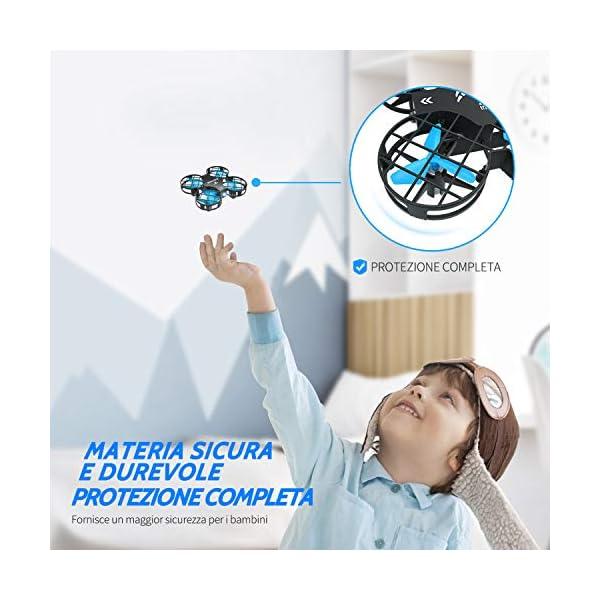 SNAPTAIN H823H Mini Drone per Bambini, Funzione Lancia&Vola, Funzione Hovering, Modalità Senza Testa, Rotazione a 360°, Decollo / Atterraggio a Un Pulsante, Velocità Regolabile 5 spesavip