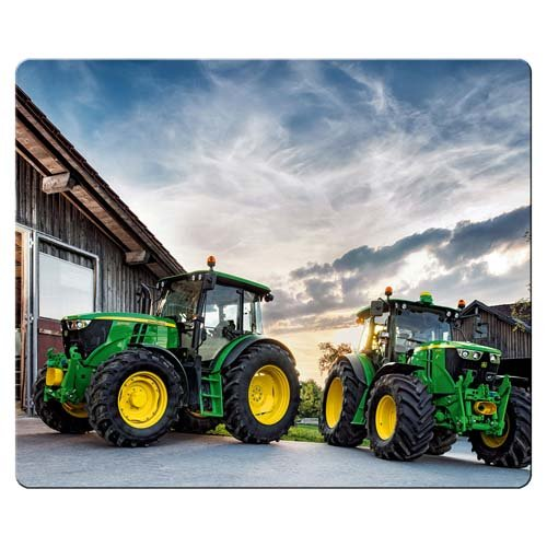 (26x21cm 10x8inch gaming mousepads cloth & rubber smooth surface improved john deere)