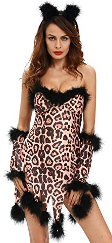 Saloon Girl Costume Party City (IF FEEL Womens Sexy Halloween Masquerade Cosplay Animal Costume (S, LC8994-20))