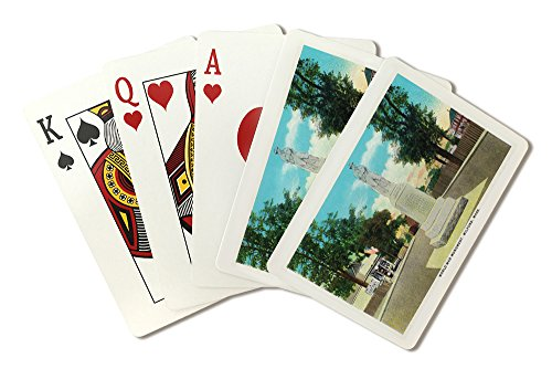 (Milford, Massachusetts - View of the World War Monument (Playing Card Deck - 52 Card Poker Size with Jokers))