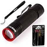 BOSTAC™ BTZ-10 Tactical Flashlight - Penlight by Boston Tactical with Tiny High-Powered CREE USA LED Bulb, 900 Effective Lumens, Mini Zoom Head, Fully Sealed Against Solvents, Resistant to Water