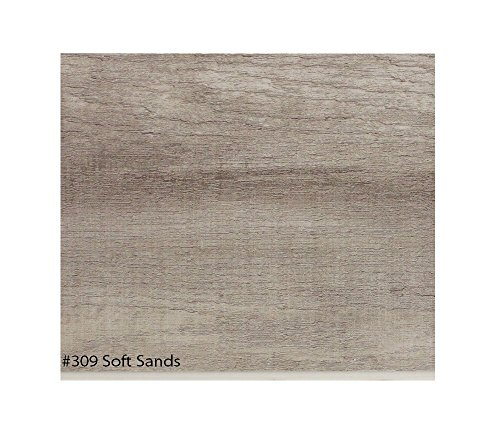 "Sand Laminate Flooring (Soft Sands | ECONOMICAL SOLUTIONS Infinite Ware Vinyl Plank Flooring EVP - 5.75""x47.91"" (22.95 Sq.Ft./Box) 5.5mm Thick, 12 mil Ware Layer – 10 Colors, DIY Installation)"