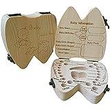 COCODE Wood Milk Tooth Keepsake Box Baby Children Save...