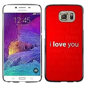 Declaración Impreso Of Love - Metal de aluminio y de plástico duro Caja del teléfono - Negro - Samsung Galaxy S6