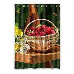Strawberry Custom Polyester Soft healthy Window Curtain 52\