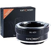 K&F Concept Lens Mount Adapter for Pentax PK K Mount Lens to Sony NEX E-Mount Camera Body, fits Sony NEX-3 NEX-3C NEX-3N NEX-5 NEX-5C NEX-5N NEX-5R NEX-5T NEX-6 NEX-7 NEX-F3 NEX-VG10 VG20