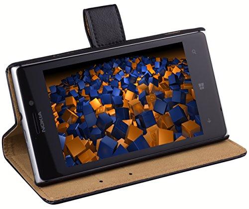 mumbi Ledertasche im Bookstyle für Nokia Lumia 925 Tasche