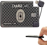 ChargeCard. Ultra-Thin Credit Card Sized Portable Charger & Battery Bank. (2300mAh/ 1.5A Fast Charge). Ext