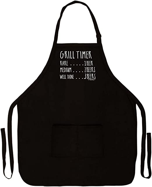Firecos This is a Manly Apron for Men Apron Funny Black Apron Mens Aprons for Cooking Funny with Pockets