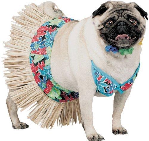 [Pet Tiki Hawaiian Girl Dog Costume For Small Dogs] (Tiki Costumes)