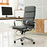 Kyпить Roundhill Furniture Modica Chromel Contemporary High Back Office Chair, Gray на Amazon.com