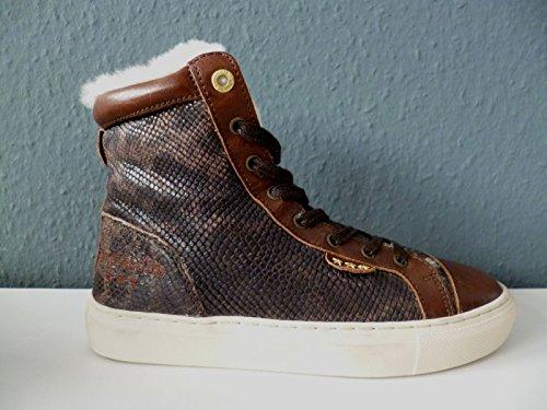 Pantofola d'Oro Andria Damen Leder Sneaker gefüttert High-Top Gr. 37 Braun NEU