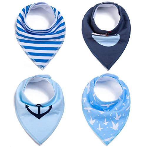 Luckymore 4 Pack Pet Dog Cat Bandana Bids - Adjustable With Two Snaps/Triangle Dog Cat Scarf Accessories for Small and Medium Dogs&Cats by Luckymore